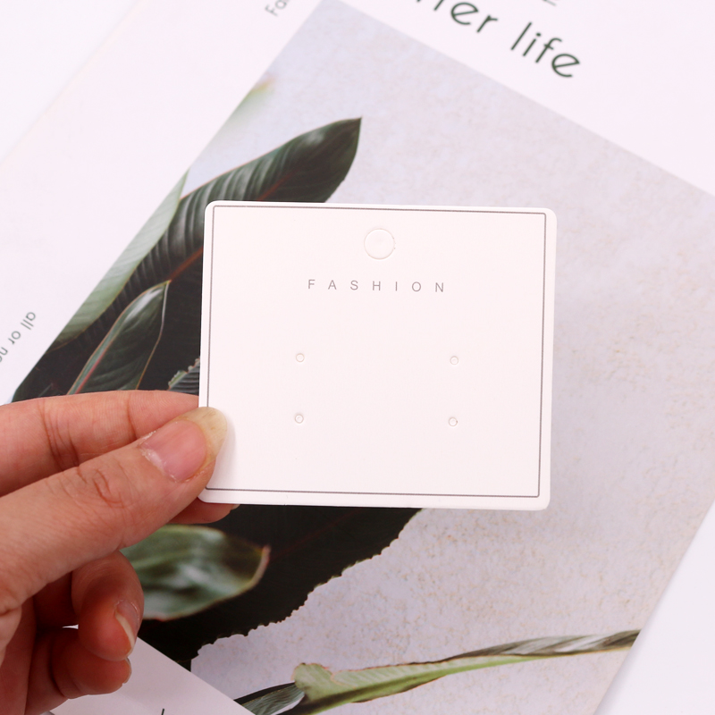 Wholesale 7*6cm 100pcs/lot Paper Label Hanger Cards Drop Earrings Jewelry Package Organizer Cards Tags Custom Logo Costs Extra image
