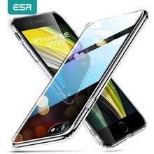 ESR – coque arrière transparente en verre trempé pour iPhone, pour modèles SE 2020, 8, 7, 11 Pro Max, X, XR, XS Max, 2020