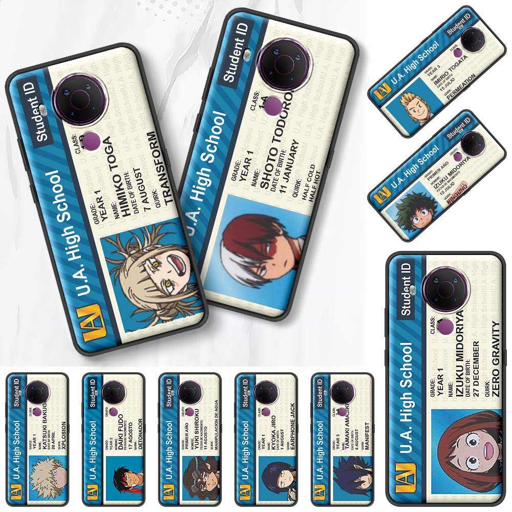 My Hero Academy Id Card Black Case For Nokia 7.2 5.3 2.3 3.4 1.4 5.4 2.4 4.2 3.2 8.3 5G 1.3 2.2 C3 C2
