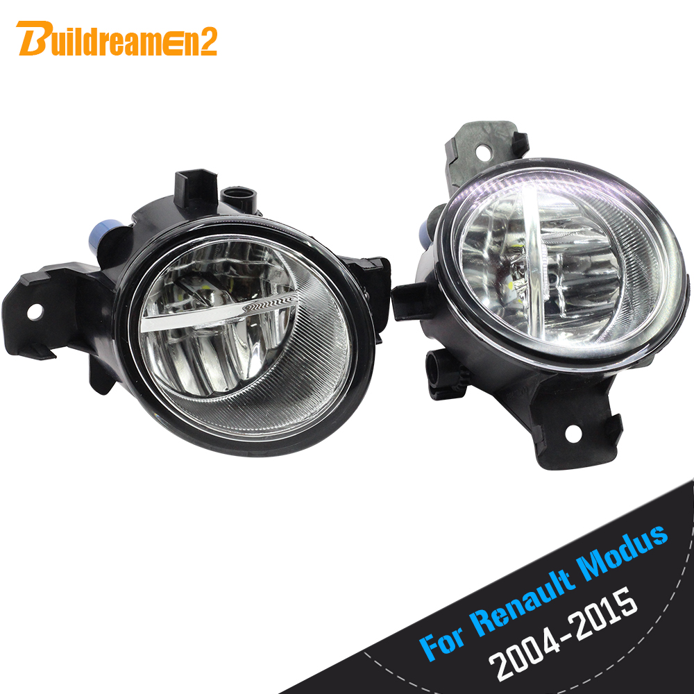 Buildreamen2 2 Pieces Car Styling H11 4000LM <font><b>LED</b></font> Bulb Right + Left Fog Light DRL 12V For <font><b>Renault</b></font> <font><b>Modus</b></font> F/JP0 Hatchback 2004-2013 image