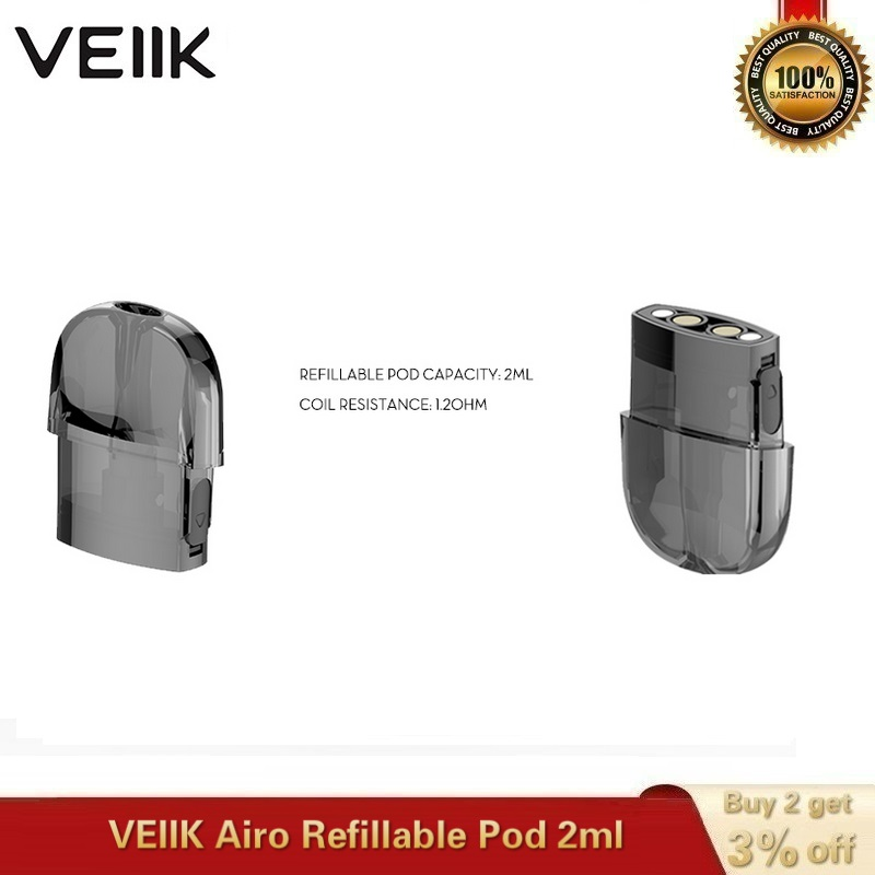 2~20pcs/lot Original VEIIK Airo Replacement Pod Vape Pod 2ml Empty Cartridge 1.2ohm Coils For VEIIK Airo Pod Kit E-Cigarette