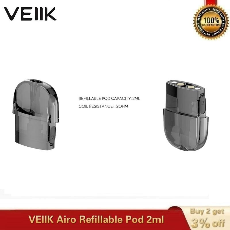 2~20pcs/lot Original VEIIK Airo Replacement Pod Vape Pod 2ml Empty Cartridge 1.2ohm Coils For VEIIK Airo Pod Kit E-Cigarette