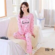 Пижама оптом, комплекты весенней детской одежды для сна с длинными рукавами и рисунком Осенняя Милая домашняя одежда для больших девочек, подарок для детей, одежда для сна