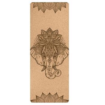 Пробковый коврик для Йоги (183x61x0,4 см/18 рисунков) с гравировкой
