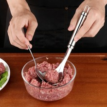 Stainless Steel Unique Hand-press Meatball Mold  DIY Handmade Kitchen Accessories