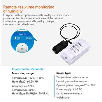 SONOFF TH10/TH16 DS18B20/SI7021/Al560 Sensor De Humedad De Temperatura Cable De Extensión Monitor Inalámbrico Wifi Interruptor De Luz Inteligente Alexa