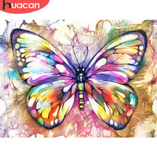 Huacan Diamond Painting Butterfly Diy Embroidery Mosaic Picture Rhinestone Handmade Kits Animal Pattern Home Decor