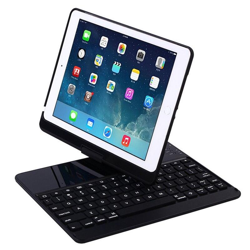 Clavier de jeu rotatif 360 clavier Bluetooth sans fil Blacklit avec étui pour ipad intelligent 9.7/Pro 9.7/Air 2/Air1