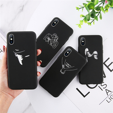 Ottwn Funny Painting Phone Cover For iPhone X XR XS MAX 7 8 7Plus 6 6S Plus 5 5S SE Lover  Pretty Girl Phone Case Soft TPU Cover цена