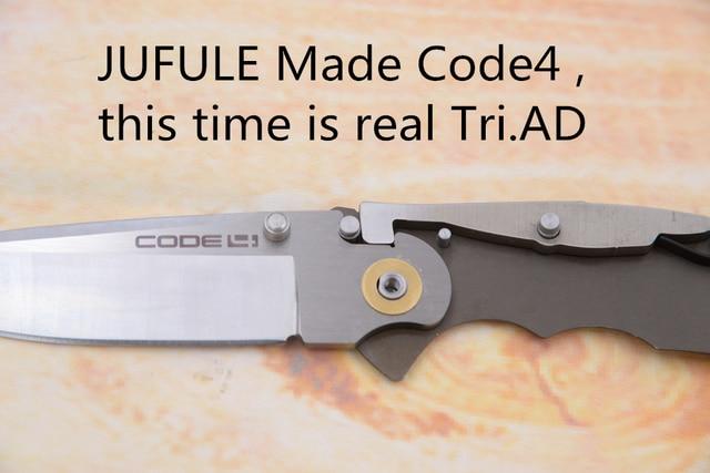 JUFULE New Code 4 Mark S35VN Blade Aluminum Handle Outdoor Tactical Camp Hunt Survival EDC Tool Pocket Kitchen Folding Knife 2
