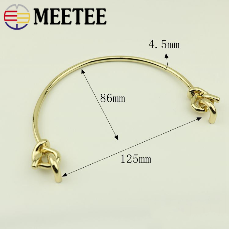 1pair 2pcs 15 5CM Meetee Bag Metal Clasp Handle for Women Purse Metal Clasp Buckle Leather Replace DIY Bag Leather Accessories in Buckles Hooks from Home Garden