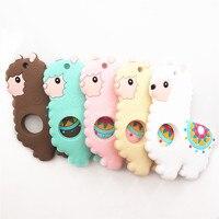 Chengkai 10PCS Alpaca Silicone Teether DIY Baby Shower Chewing Pendant Nursing Sensory Teething Pacifier Dummy Jewelry Toy