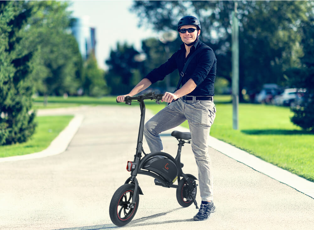 [NEW] [EU STOCK] KUGOO KIRIN B1 Folding Electric Adult Scooter 12 Inches Pneumatic Tyre 25KG/H electric bike with Disk brake