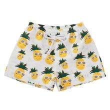 Детские повседневные пляжные штаны; шорты с радужным принтом; детская одежда для плавания с цветочным принтом; повседневные эластичные летние шорты на завязках; Прямая поставка