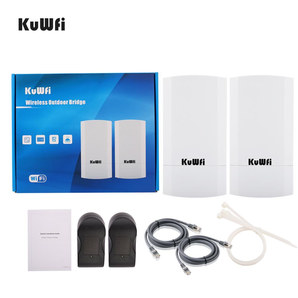 KuWfi Router 1KM 300Mbps Wireless Router Outdoor&Indoor CPE Router Kit Wireless Bridge Wifi Repeater Support WDS Long Range