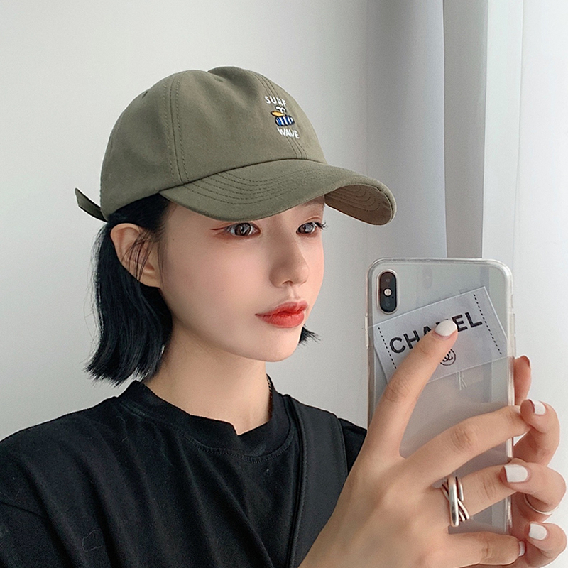 Lady 2021's New Vintage Preppy Hat with Embroidered Baseball Cap and Sunblock Cap Visor  Hats  Caps  Sun Visors for Women