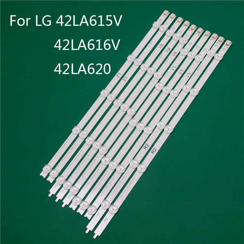 LED TV Illumination Part For LG 42LA615V 42LA616V 42LA620 LED Bars Backlight Strips Line Ruler 42