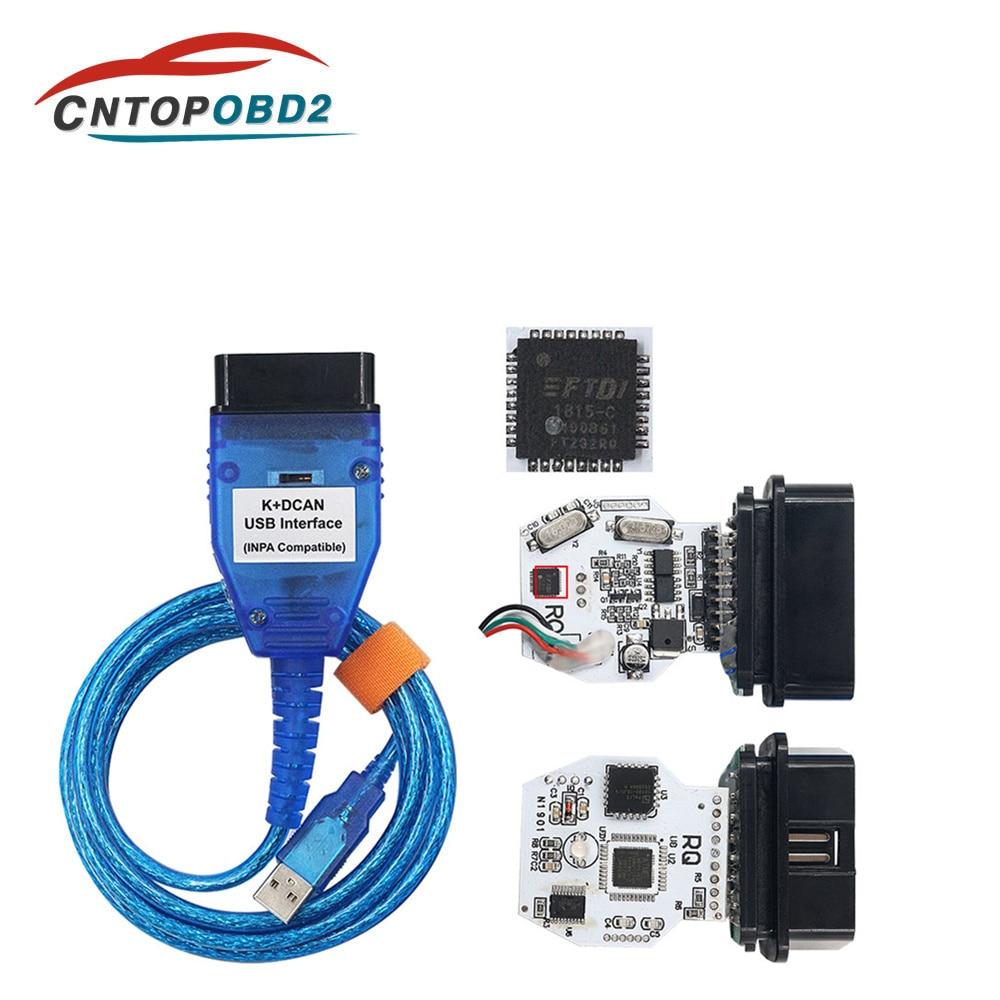 Новый выпуск для BMW INPA K + CAN с чипом FT232RL с переключателем для BMW INPA K DCAN OBD2 USB кабель интерфейса с 20PIN для BMW