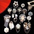 Berühmte Luxus Marke Designer Blume Bogen Quaste Brosche Perle Anzahl 5 Broschen Pins Broach für Frauen Vintage Zubehör
