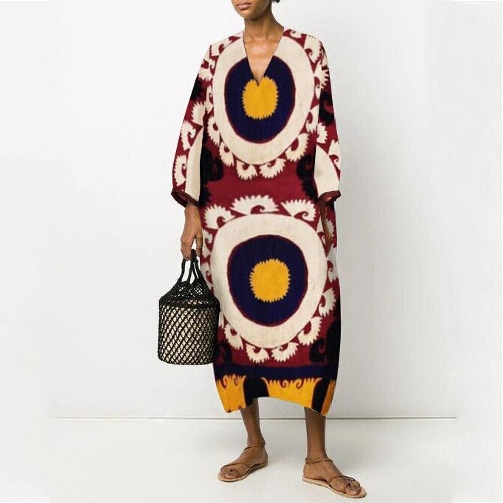 African Dresses For Women African Clothes Africa Dress Rainbow Stripe Print Dashiki Clothing Ankara Plus Size Africa Women Dress