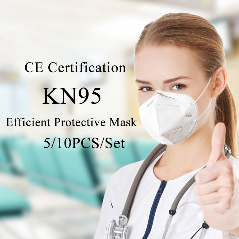 Fast Shipping 10PCS KN95 Mask Antivirus Flu Anti Infection KN95 Mouth Masks PM2.5 Protective Safety Face Masks Same As KF94 FFP2