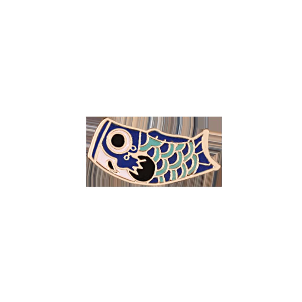 Kartun Ikan Pin Jepang Ikan Koi Enamel Pin Bros Lencana Ransel Bros untuk Pria Wanita Anak-anak Budaya Jepang Perhiasan Hadiah
