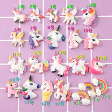 10PCS Unicorn Charms For SLIME Fillers Mobile Phone Shell Decoration Cute Glitter Slime