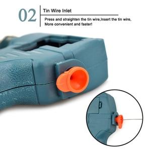 Image 3 - Newacalox 220v 60w ue enviar automático pistola de lata estação retrabalho ferro solda elétrica bomba desoldering ferramenta solda fio