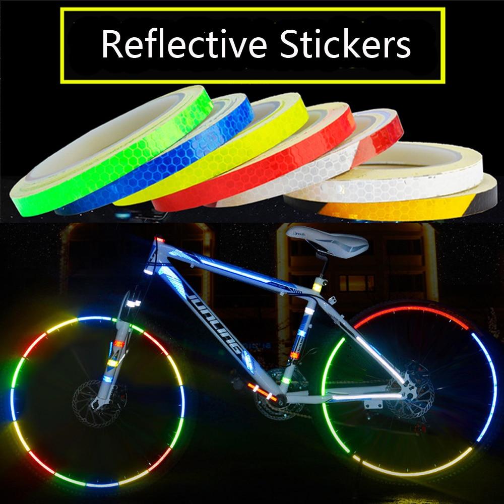 Bike Wheel Reflectors 2 Sheets 16 Stickers Reflective Stickers