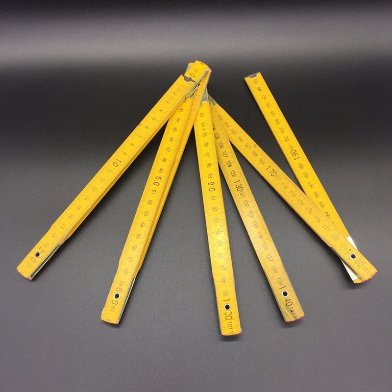 DIY Measuring Folding Ruler Multifunctional Wooden Yard Stick Ruler Painting Drawing Measuring Instrument Model Template Ruler H