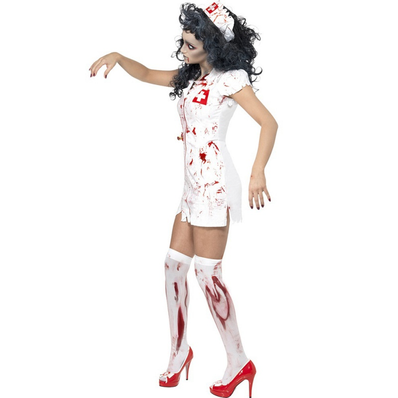 <font><b>Halloween</b></font> Costume Adult Ragged <font><b>Sexy</b></font> Scary Mummy Costumes Blood <font><b>Sexy</b></font> Nurse Costumes For <font><b>Women</b></font> Cosplay Zombie Costumes image