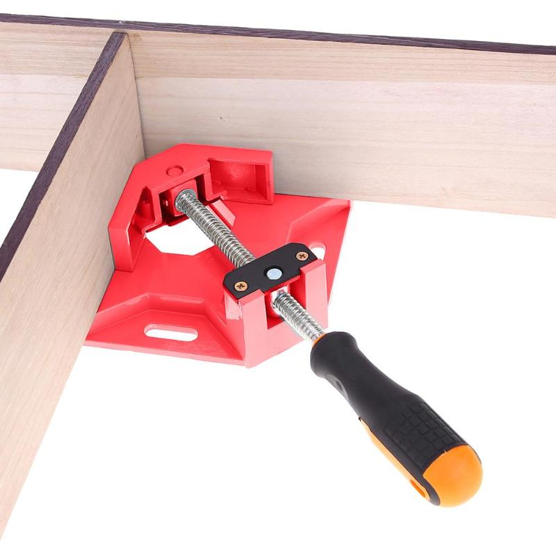 90 Degree Corner Clamp Right Angle Welding Jaw Rotation Adjustable Spray Molding Woodworking Photo Frame Clamping Tool