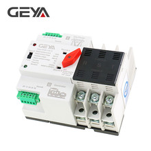 GEYA W2R-3Pole Din Rail Mounted Automatic Transfer Switch Three Phase ATS 100A Power Transfer Switch dual power ats automatic transfer switch 125a single three phase genset circuit switch diesel generator part 110v 220v 380v