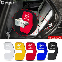 Ceyes 4pcs/lot Car Accessories Protector Door Lock Covers Case For Opel Opc Insignia Mokka Zafira Astra GTC Emblems Auto Styling
