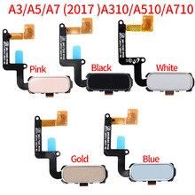 Для Samsung Galaxy A3 A5 A7 A320 A520 A720 A320F A520F A720F за счет сканера отпечатков пальцев Сенсор Flex Home меню кнопка гибкий кабель