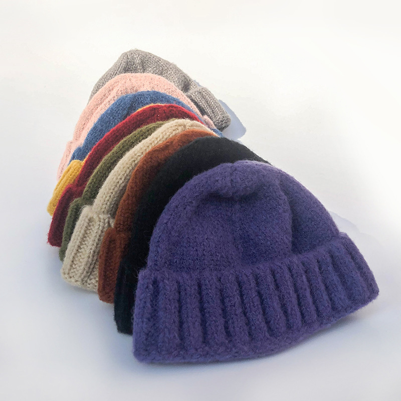 Pullover Wool-Hat Korean-Style Female Winter Thick Child Ear And Autumn Skullcap Parent