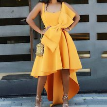 Fashion Design Pleated Plus Size Long Party Dress Elegant Evening Sexy African Women Dresses Yellow Summer Sundress Brand Casual