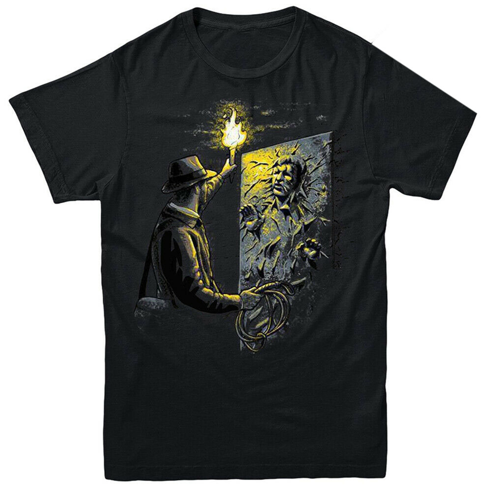 Indiana Jones Meets Han Solo T-Shirt 80's Cult Movie Film Inspired Slim Fit Plus Size Tops Tee Shirt image