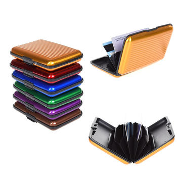 Aluminum Metal Card Wallet Men Business Id Credit Card Holder Case Anti Rfid Scanning Card Id Case Hot Sale image
