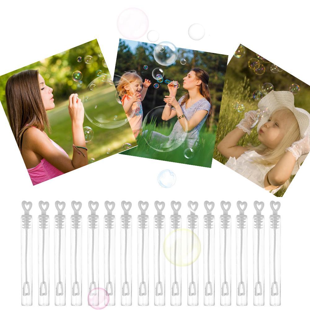 60 шт. «любящее сердце» палочка трубки пузыря мыло бутылка играя в веселые детские игрушки свадебный Декор компактный и Портативный для пере...