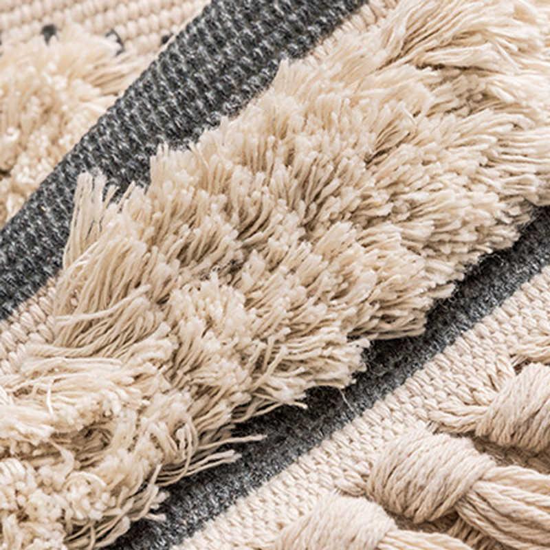 Marokko Katoen Hand Geweven Gedrukt Karpetten Getuft Kwasten Gooien Tapijt Machine Wasbaar Badmat Deurmat Tapijt Tapete Para Sala