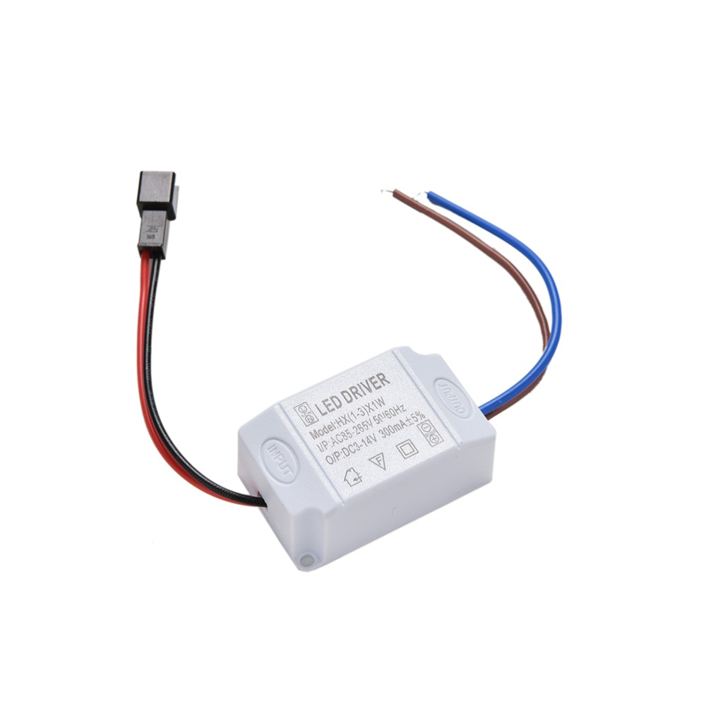 1Pc 3X1W Simple AC 85V-265V To DC 2V-12V 300mA Electronic LED Strip Driver Transformer LED Power Supply Driver Adapter