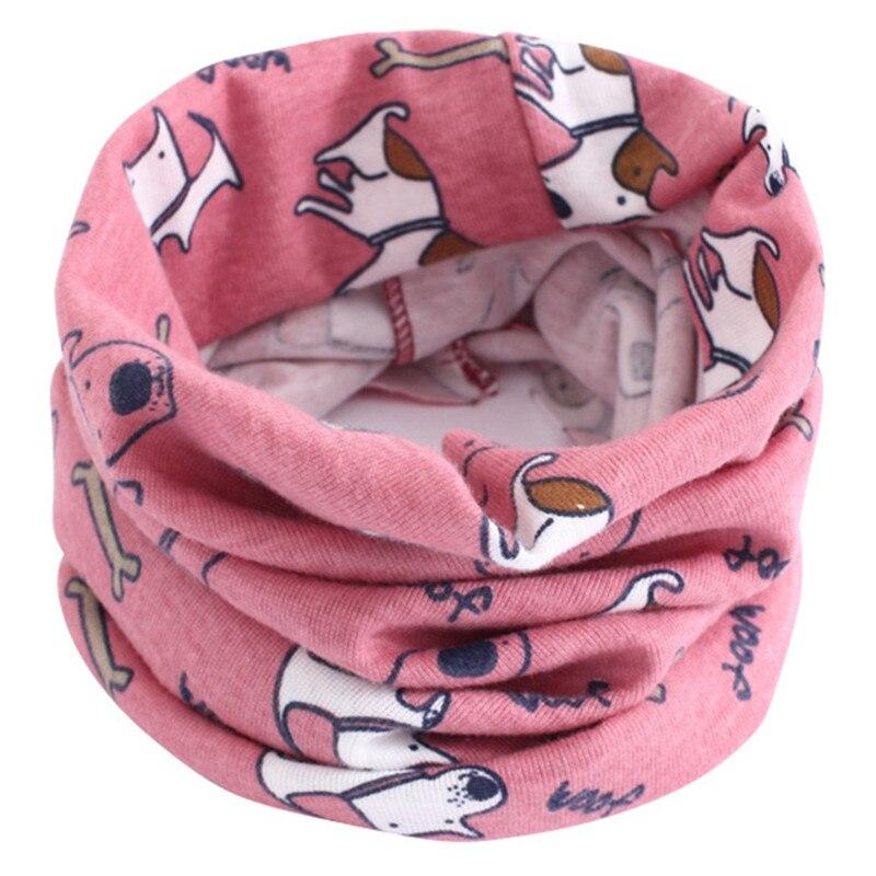 Весенний детский хлопковый шарф, теплый шарф для маленьких детей, осенне-зимние шарфы с героями мультфильмов для мальчиков и девочек, детский воротник с круглым вырезом, волшебный шейный платок - Цвет: 08