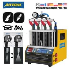 AUTOOL CT160 자동차 연료 인젝터 난방 청소 테스터 기계 초음파 클리너 오토바이 점화 플러그 Cleanning 220V 110V