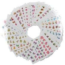 Лак для ногтей модель воды Стикеры нарциссами Роза невесты Хуа галстуком-бабочкой XF1001-1060 маникюрный набор 60