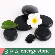 1Pcs Beauty SPA Health Massage Energy Stone Traditional Natural Volcanic Hot Stone Back Essential Oil Massage Hot Stone