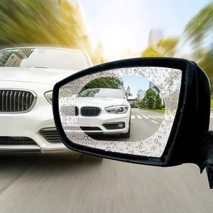 Image 3 - 2Pcs Waterproof Nano Stickers Car Rear View Mirror Protective Film Anti fog Window Clear Rainproof Rearview Mirror