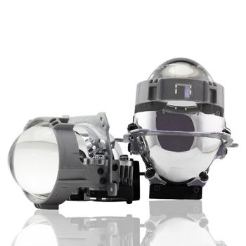 SHUOKE 2 sztuk Bi-projektor LED soczewki H1 żarówki 9005 9006 H4 H7 lampy LED do reflektorów samochodu stylizacji modernizacji Hi Lo wiązka obiektywu SA tanie i dobre opinie CN (pochodzenie) bi-led-007 All Car Lo 36W Hi 44 4W 5500LM Lens 50000 Hours 2 5 Inch CE SGS ISO9001 E-Mark 12 Months