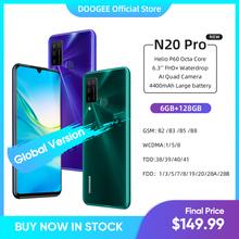 DOOGEE N20 Pro Quad Camera telefony komórkowe Helio P60 Octa Core 6GB RAM 128GB ROM wersja globalna 6 3 #8222 FHD + Android 10 OS Smartphone tanie tanio Nie odpinany CN (pochodzenie) Rozpoznawania linii papilarnych Rozpoznawania twarzy Do 48 godzin 16MP 4300 Nonsupport Smartfony