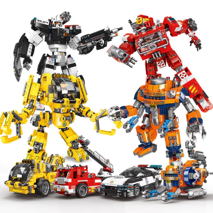 Xingbao <font><b>20001</b></font> 20002 20003 20004 Age of Armor 2in1 Deformation Robot Series Building <font><b>Blocks</b></font> kids DIY Bricks Toys Christmas Gifts image